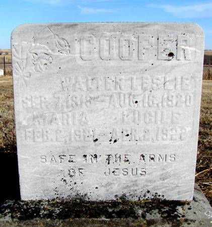 COOPER, WALTER L - Montgomery County, Iowa   WALTER L COOPER