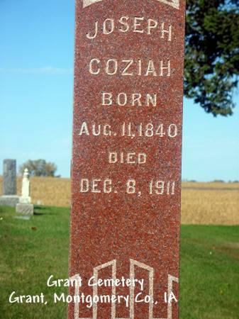 COZIAH, JOSEPH - Montgomery County, Iowa   JOSEPH COZIAH