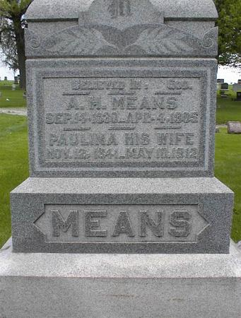 MEANS, ADAM HENRY - Montgomery County, Iowa | ADAM HENRY MEANS