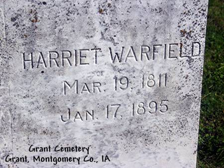 WARFIELD, HARRIET - Montgomery County, Iowa | HARRIET WARFIELD
