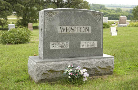 WESTON, MATILDA C. - Montgomery County, Iowa | MATILDA C. WESTON