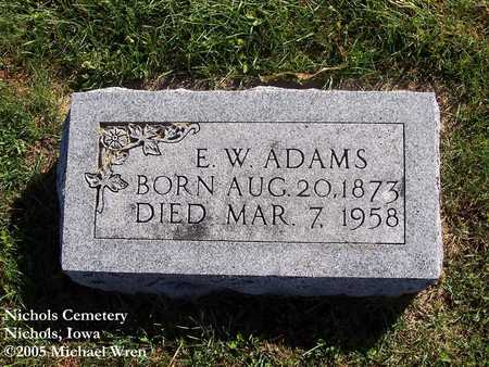 ADAMS, ELIAS W. - Muscatine County, Iowa | ELIAS W. ADAMS
