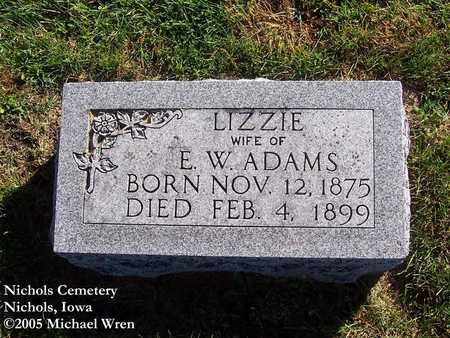 ADAMS, LIZZIE - Muscatine County, Iowa | LIZZIE ADAMS
