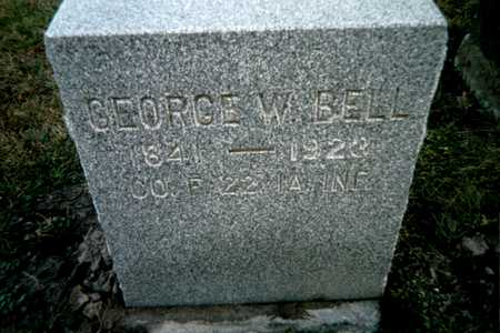 BELL, GEORGE W. - Muscatine County, Iowa | GEORGE W. BELL