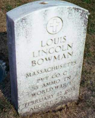 BOWMAN, LOUIS LINCOLN - Muscatine County, Iowa | LOUIS LINCOLN BOWMAN