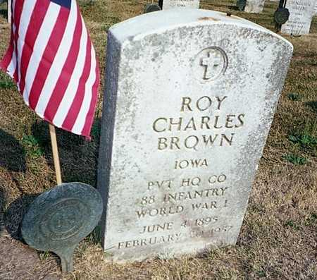 BROWN, ROY CHARLES - Muscatine County, Iowa | ROY CHARLES BROWN