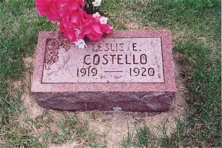 COSTELLO, LESLIE E. - Muscatine County, Iowa | LESLIE E. COSTELLO