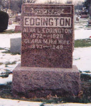 EDGINGTON, CLARA M. - Muscatine County, Iowa | CLARA M. EDGINGTON