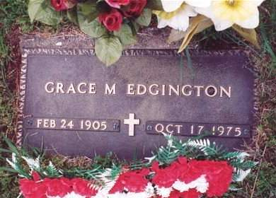 EDGINGTON, GRACE M. - Muscatine County, Iowa | GRACE M. EDGINGTON