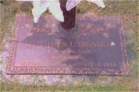 EDGINGTON, SGT. STEPHEN L. - Muscatine County, Iowa | SGT. STEPHEN L. EDGINGTON