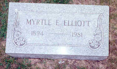 ELLIOTT, MYRTLE - Muscatine County, Iowa | MYRTLE ELLIOTT