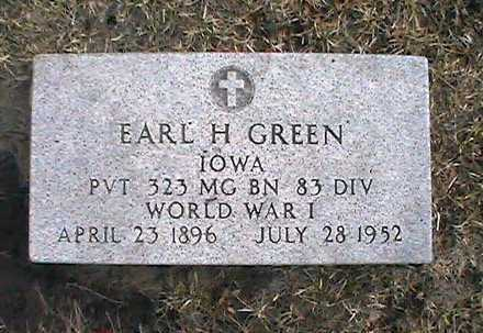 GREEN, EARL - Muscatine County, Iowa | EARL GREEN
