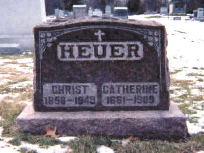 HEUER, CHRIST - Muscatine County, Iowa | CHRIST HEUER