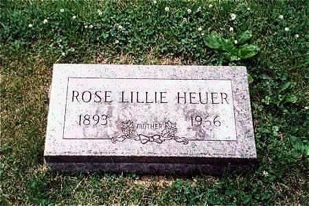 HEUER, ROSE LILLIE - Muscatine County, Iowa | ROSE LILLIE HEUER