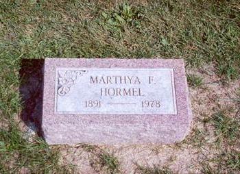 HOMER HORMEL, MARTHYA - Muscatine County, Iowa | MARTHYA HOMER HORMEL