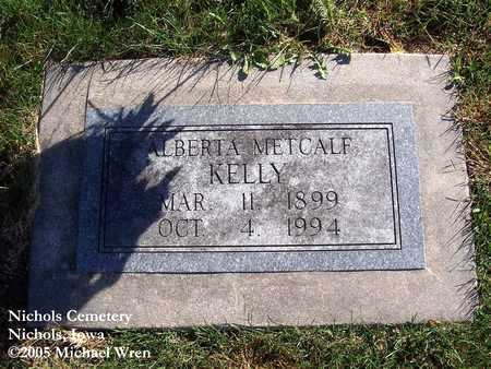 METCALF KELLY, ALBERTA FRANCIS - Muscatine County, Iowa | ALBERTA FRANCIS METCALF KELLY