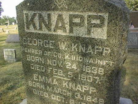 KNAPP, GEORGE W. - Muscatine County, Iowa | GEORGE W. KNAPP