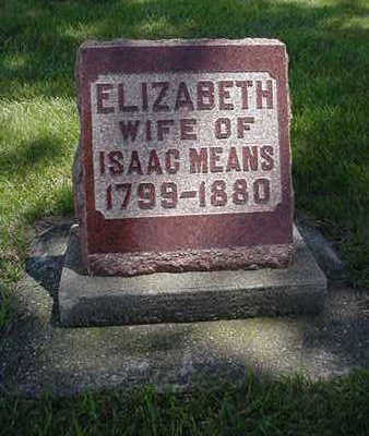 STARCHER MEANS, ELIZABETH - Muscatine County, Iowa | ELIZABETH STARCHER MEANS