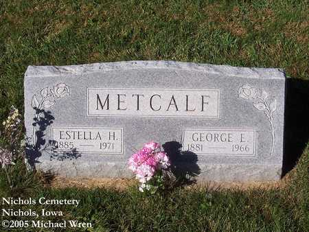 METCALF, GEORGE E. - Muscatine County, Iowa | GEORGE E. METCALF