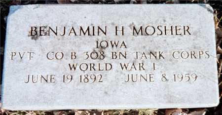 MOSHER, BENJAMIN H. - Muscatine County, Iowa | BENJAMIN H. MOSHER