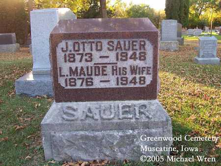 JONES SAUER, LENA MAUDE - Muscatine County, Iowa | LENA MAUDE JONES SAUER