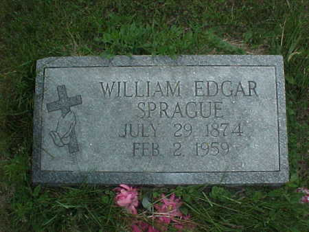 SPRAGUE, WILLIAM EDGAR - Muscatine County, Iowa | WILLIAM EDGAR SPRAGUE