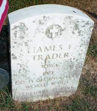 TRADER, JAMES FRANCIS - Muscatine County, Iowa | JAMES FRANCIS TRADER