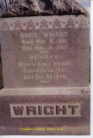 WRIGHT, DAVID - Muscatine County, Iowa | DAVID WRIGHT