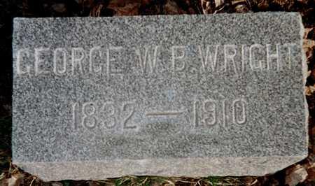 WRIGHT, GEORGE W.B. - Muscatine County, Iowa | GEORGE W.B. WRIGHT
