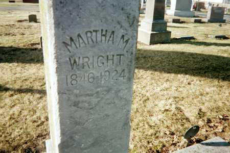 WRIGHT, MARTHA M. - Muscatine County, Iowa | MARTHA M. WRIGHT