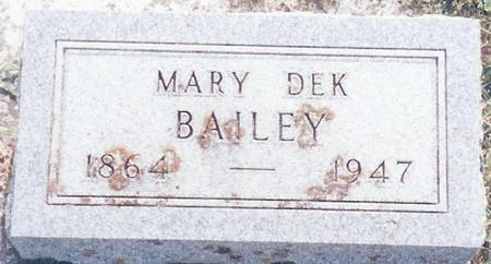 DEK BAILEY, MARY - O'Brien County, Iowa | MARY DEK BAILEY