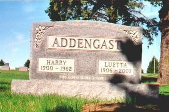 ADDENGAST, HARRY - Osceola County, Iowa | HARRY ADDENGAST