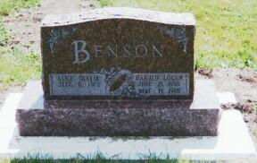 BENSON, ALICE - Osceola County, Iowa | ALICE BENSON