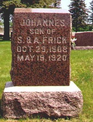 FRICK, JOHANNES - Osceola County, Iowa | JOHANNES FRICK