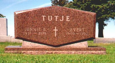 TUTJE, EVERT - Osceola County, Iowa | EVERT TUTJE