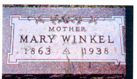 HESSENIUS WINKEL, MARY - Osceola County, Iowa | MARY HESSENIUS WINKEL