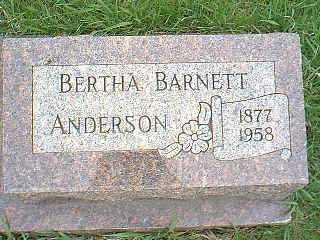BARNETT ANDERSON, BERTHA - Page County, Iowa | BERTHA BARNETT ANDERSON