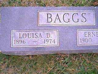 BAGGS, LOUISA D. - Page County, Iowa | LOUISA D. BAGGS