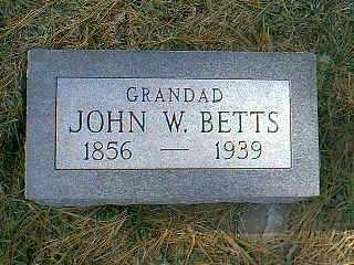 BETTS, JOHN W. - Page County, Iowa | JOHN W. BETTS