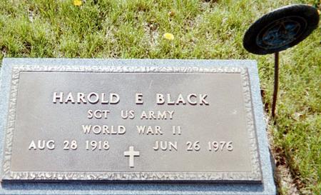 BLACK, HAROLD E. (MILITARY) - Page County, Iowa | HAROLD E. (MILITARY) BLACK