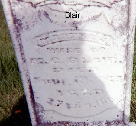 BLAIR, MARTHA J. - Page County, Iowa | MARTHA J. BLAIR