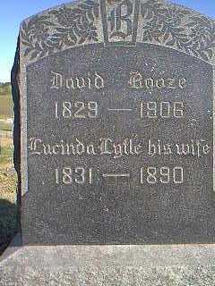 LYTLE BOOZE, LUCINDA - Page County, Iowa | LUCINDA LYTLE BOOZE