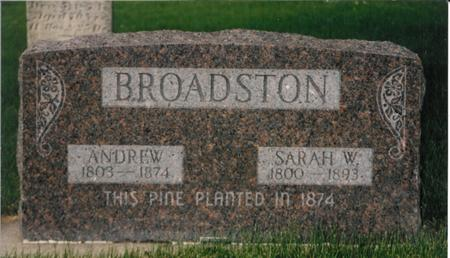 WILLIAMS BROADSTON, SARAH - Page County, Iowa | SARAH WILLIAMS BROADSTON
