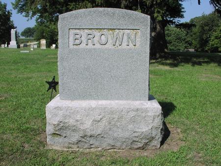 BROWN, JACOB WILLIAM - Page County, Iowa   JACOB WILLIAM BROWN