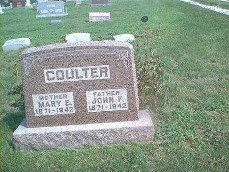 COULTER, MARY E - Page County, Iowa | MARY E COULTER