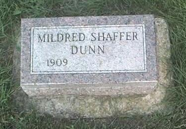 SHAFFER DUNN, MILDRED - Page County, Iowa | MILDRED SHAFFER DUNN