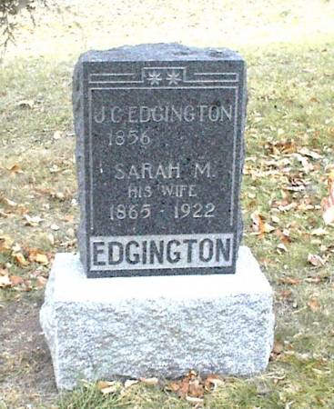 EDGINGTON, SARAH M. - Page County, Iowa | SARAH M. EDGINGTON