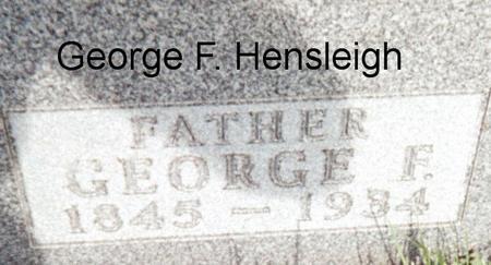 HENSLEIGH, GEORGE F. - Page County, Iowa | GEORGE F. HENSLEIGH