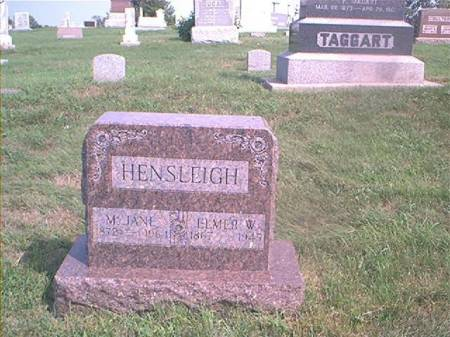 HENSLEIGH, M JANE - Page County, Iowa | M JANE HENSLEIGH