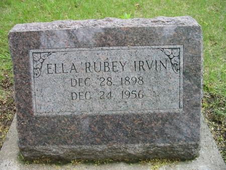 IRVIN, ELLA RUBY - Page County, Iowa | ELLA RUBY IRVIN